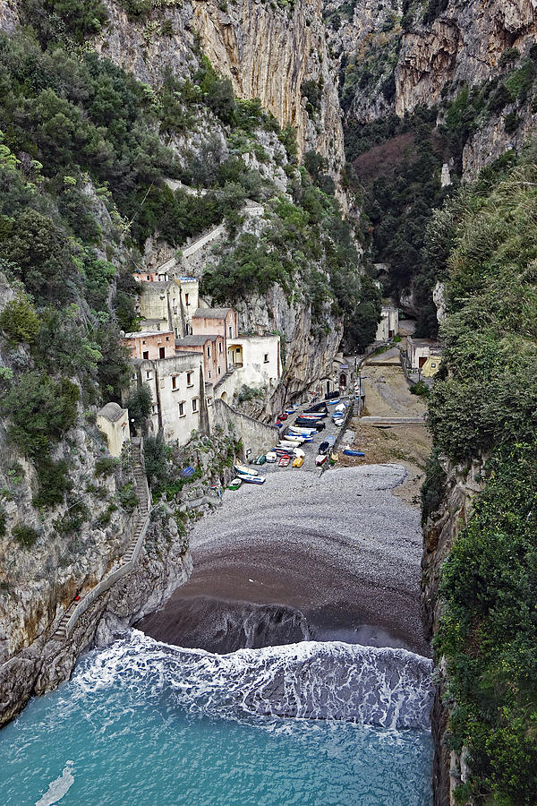 Amalfi Coast Photograph - This Is A View Of Furore A Small Village Located On The Amalfi Coast In Italy  by Rick Rosenshein