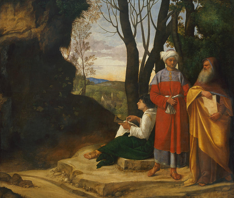 Italian Painters Painting - Three Philosophers by Giorgione