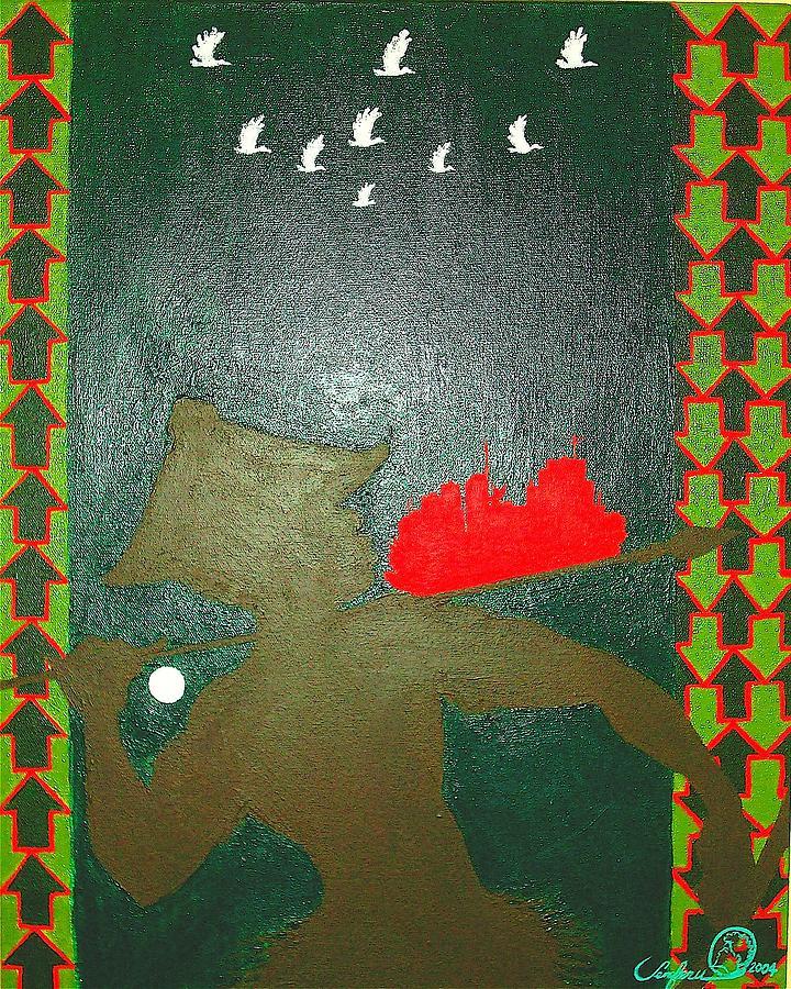 Uhuru Series Painting by Malik Seneferu