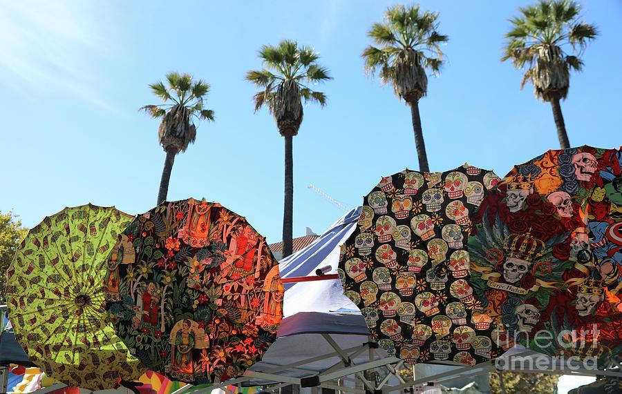 Dia De Los Muertos Photograph - 4 Umbrellas Day Of The Dead  by Chuck Kuhn