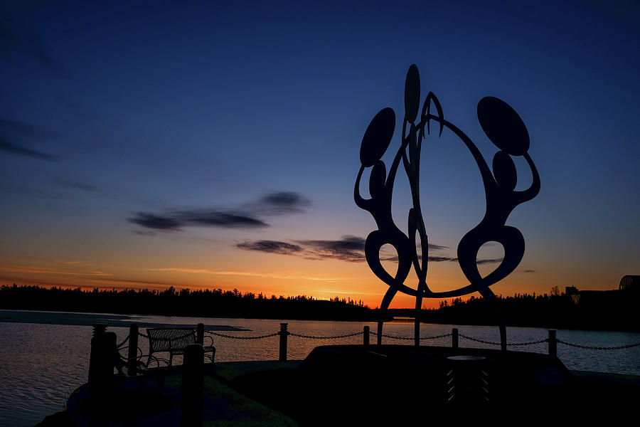 United in Celebration Sculpture at sunset 2 by John McArthur