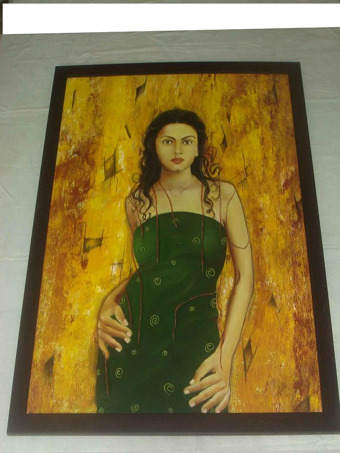 Lady Painting - Untitled by Daisy Bandha