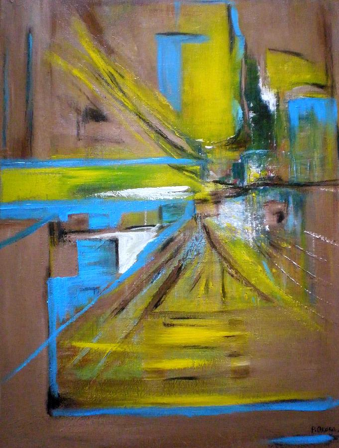 Abstract Painting - Untitled by Philip Okoro