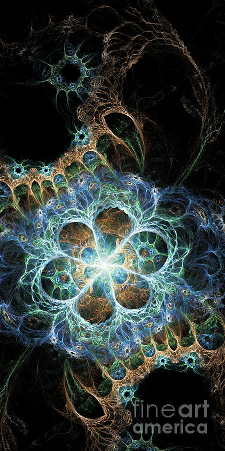 Fractal Digital Art - Novae I by Sandra Hoefer