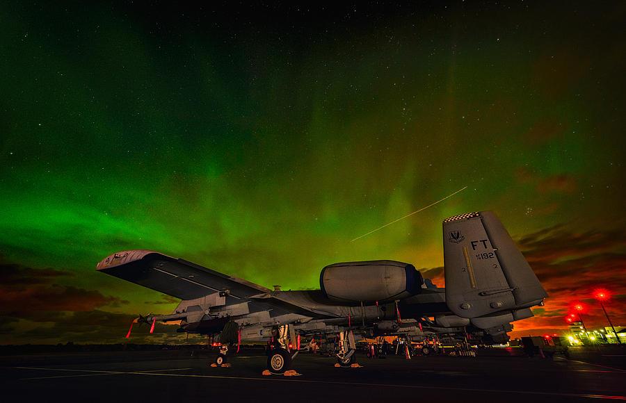 U s  Air Force A-10 Aurora Moment At Amari Air Base, Estonia
