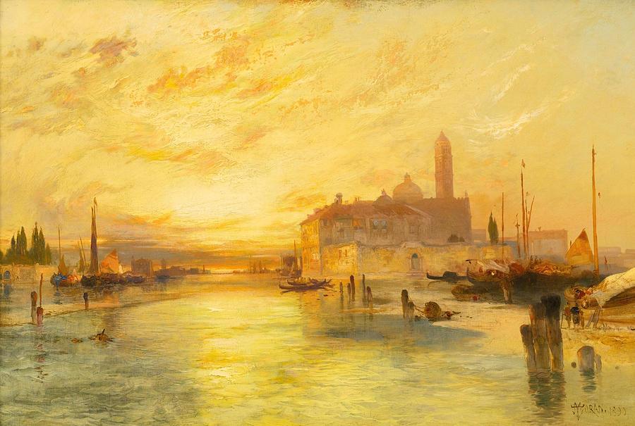 Moran Painting - Venice by Thomas Moran