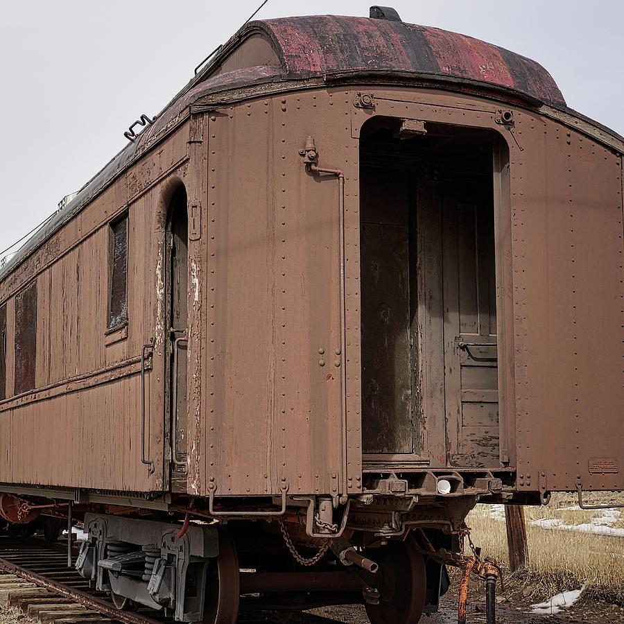 Railroad Car Photograph - Waiting by Ernie Echols