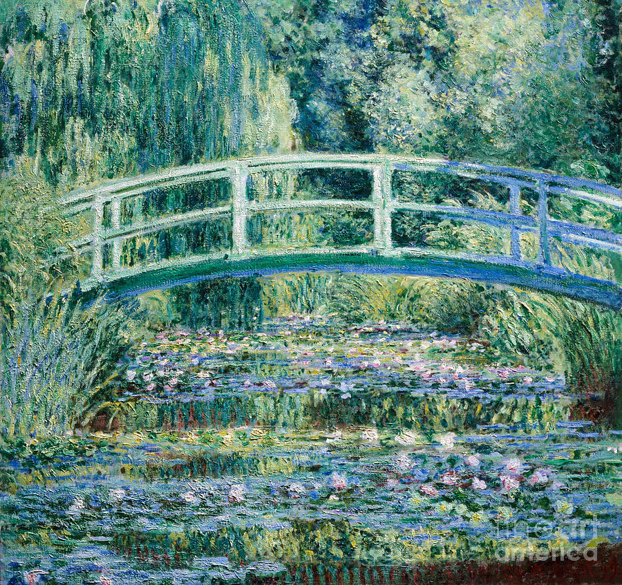 Claude Painting - Water Lilies And Japanese Bridge by Claude Monet