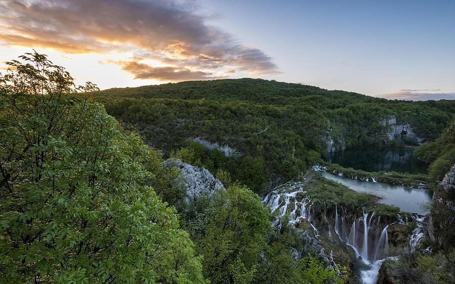 Waterfall Digital Art - Waterfall by Dorothy Binder