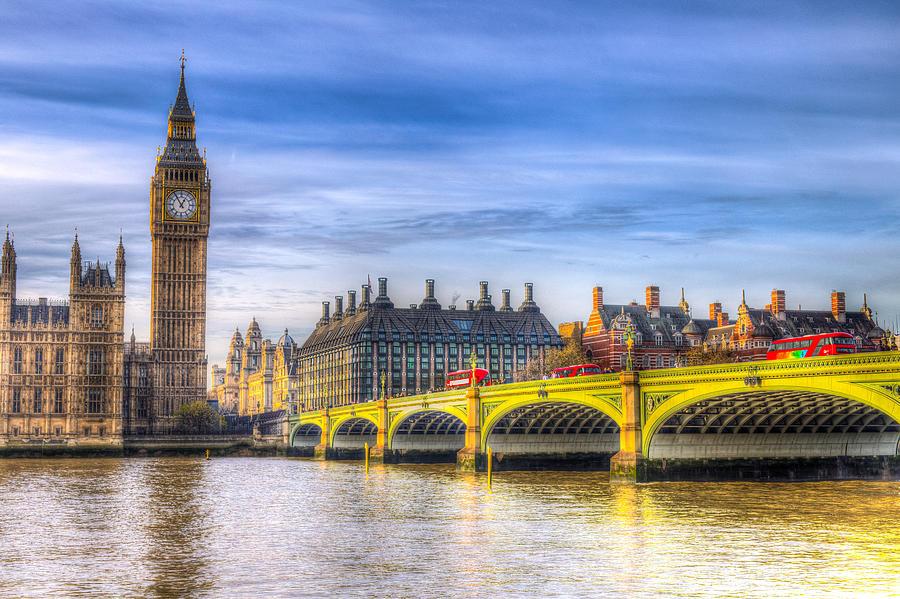Westminster Bridge And Big Ben Photograph