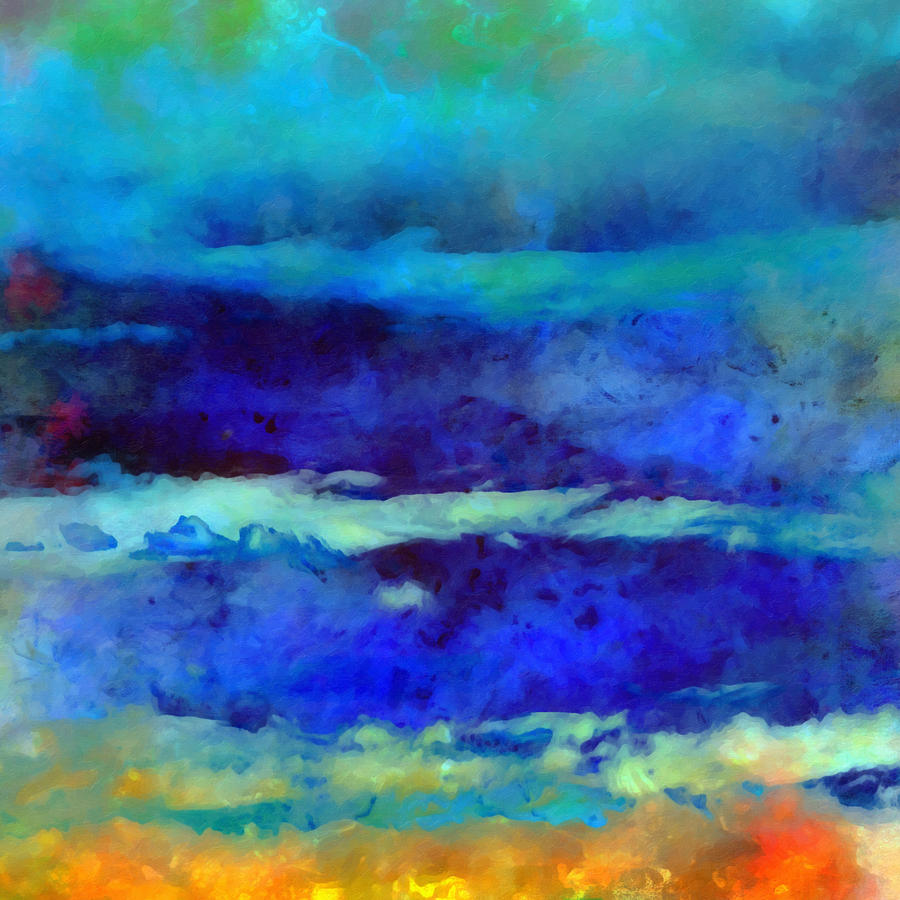 Coastal Painting - What-a-color Art Series -seascape Art by Ricki Mountain
