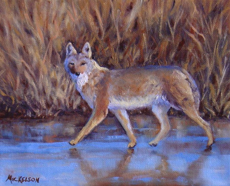 Coyote Painting - 4 Wheelin by Debra Mickelson