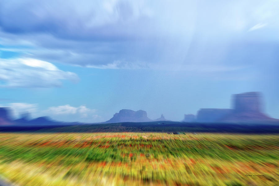 Monument Valley Mixed Media - 4 Wheeling With The Storm Cell Approaching Monument Valley 06 by Thomas Woolworth