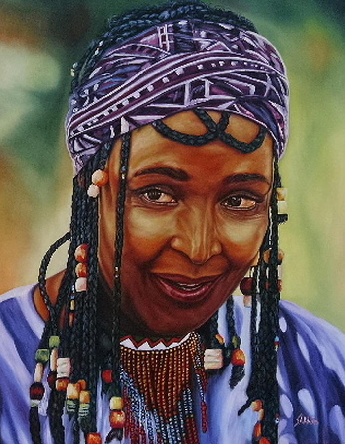 Woman Painting - Winnie Mandela by Shahid Muqaddim