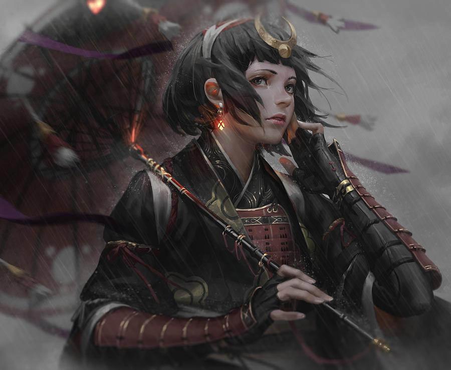 Women Warrior Digital Art - Women Warrior by Dorothy Binder
