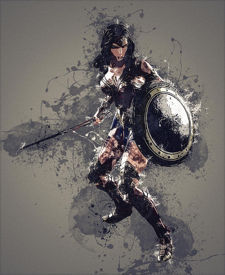 Wonder Woman Digital Art - Wonder Woman by Elena Kosvincheva