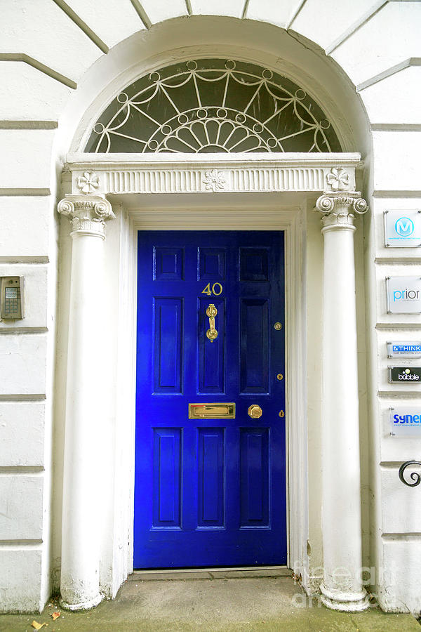 Blue Door Photograph - 40 Fitzwilliam Street by John Rizzuto