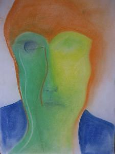 My Faces Drawing - My Faces by Laleh Khoshnavaz