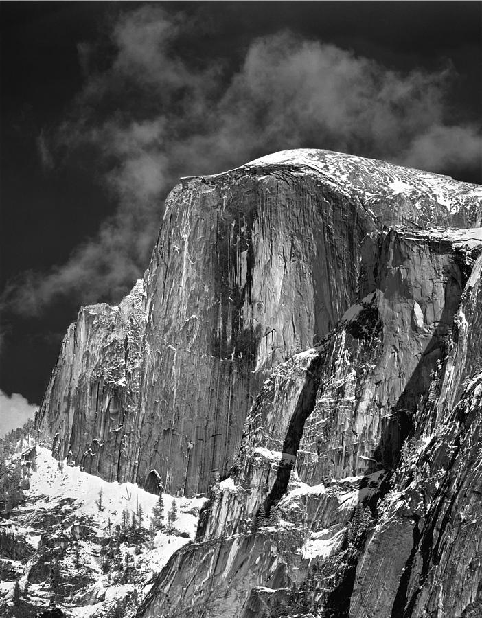 Half Dome Photograph - 406779 V Half Dome In Winter Dress by Ed Cooper Photography