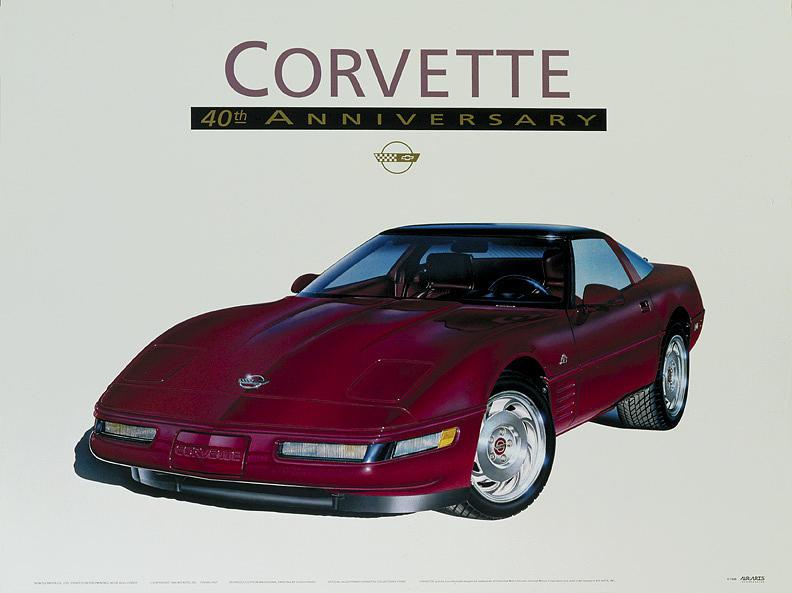 Cars Painting - 40th Anniversary Corvette by Hugo Prado
