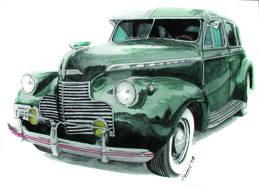 Chevy Painting - 41 Chevy by Ferrel Cordle