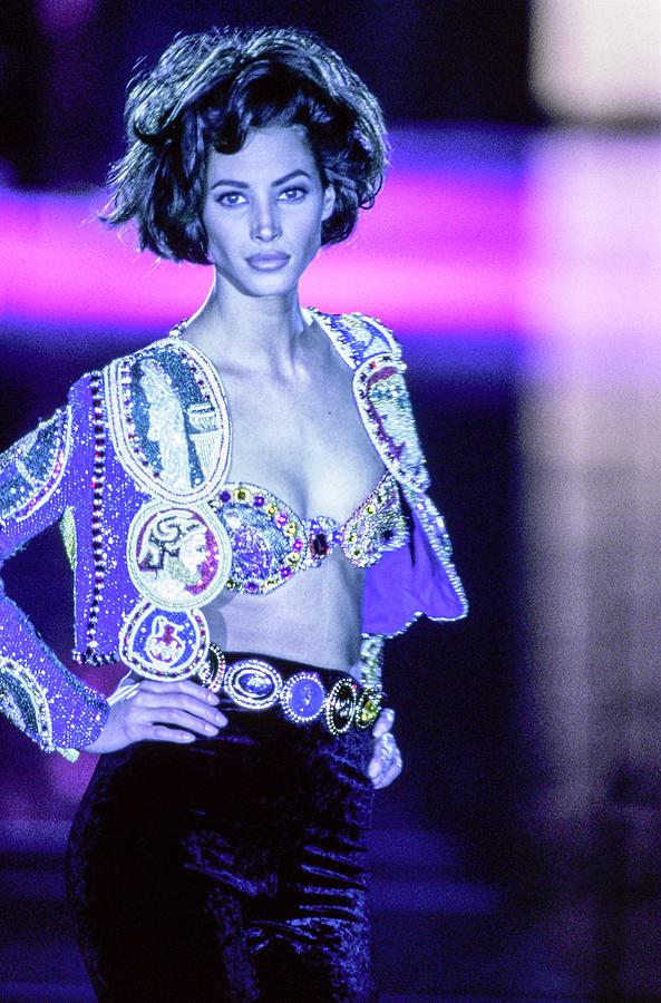 Versace Fall 1991 Rtw Show 41 Photograph by Guy Marineau