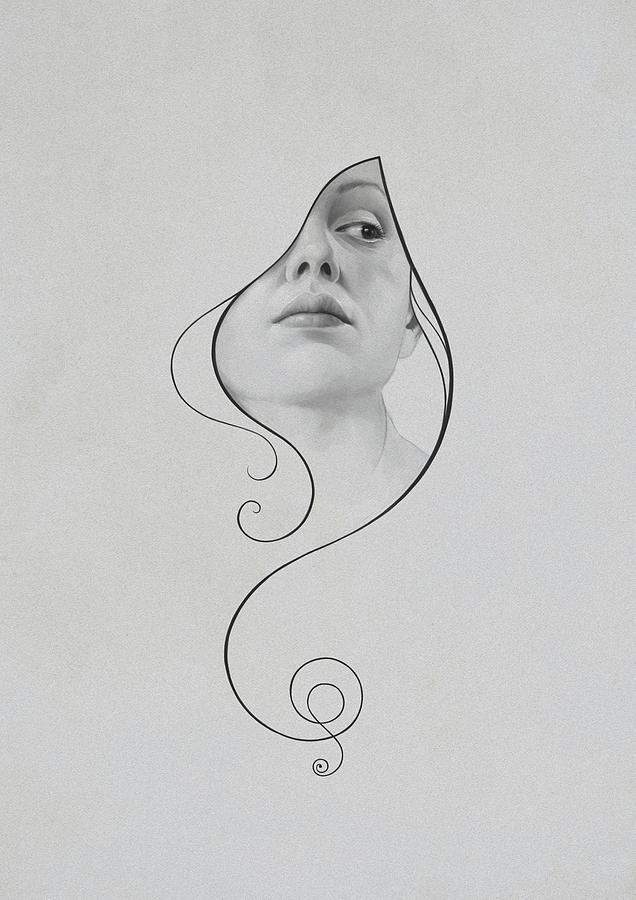 Woman Drawing - 413 by Diego Fernandez