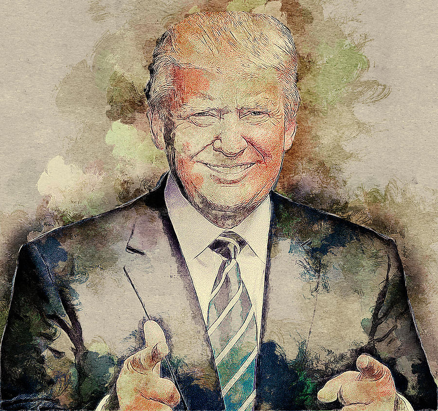 Donald Trump Digital Art - Donald Trump by Elena Kosvincheva
