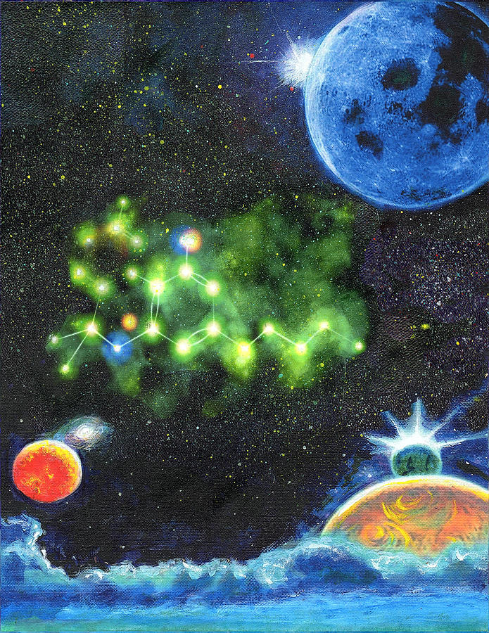 Stars Painting - 420 Space by Charles Bickel