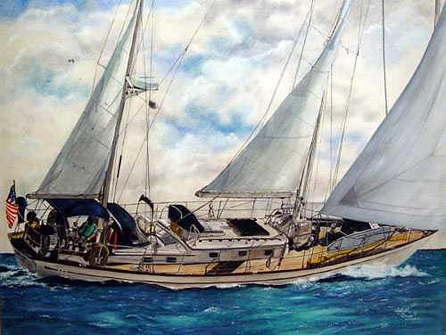 Sailing Painting - Sailing by Lizbeth Gage
