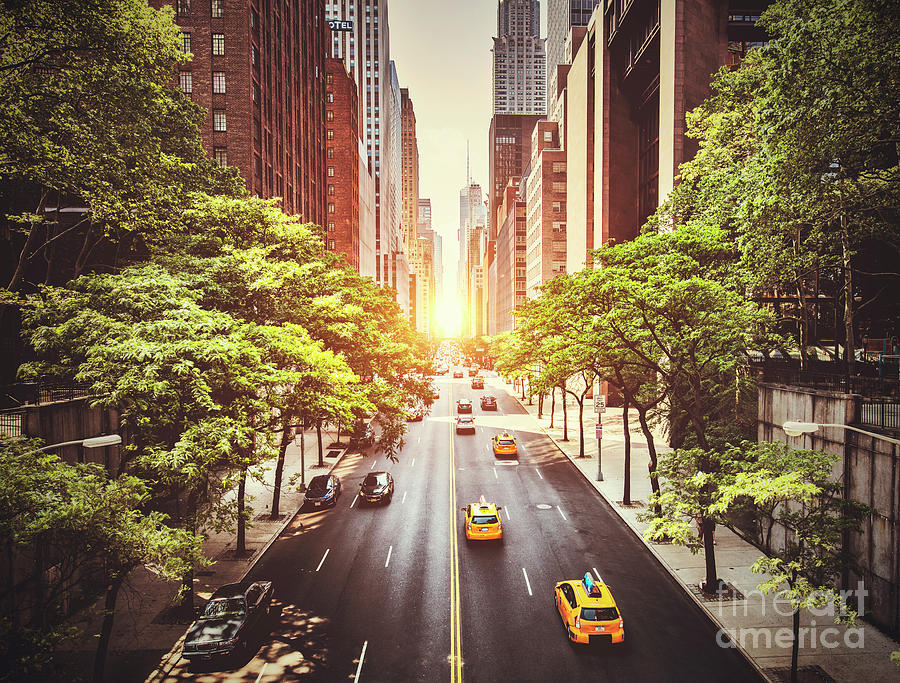 New Photograph - 42nd Street In New York During The Day  by Stuart Monk