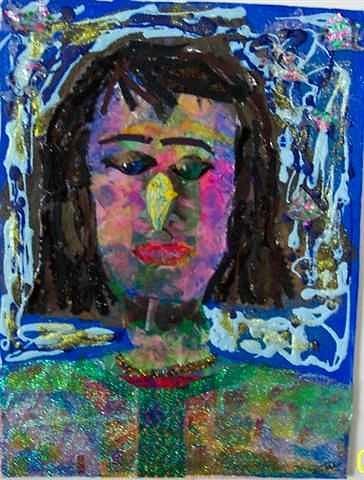 Face Painting - Fish Face by Lori Tan