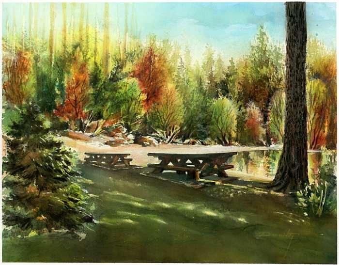 Early Fall Painting by Dumitru Barliga