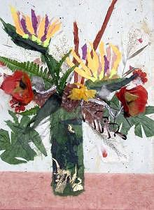 Vase Of Flowers Mixed Media - A Little Bit Of Paradise by Sue Gordon