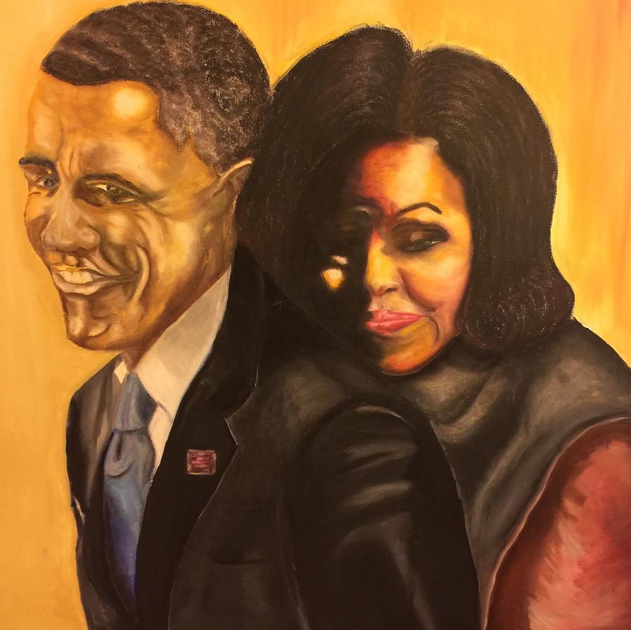 Barack Obama Painting - 44 by Ebony Thompson