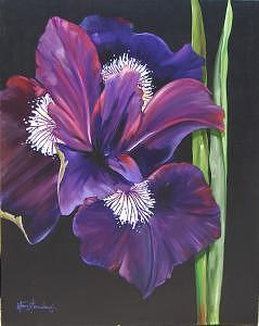 Floral Painting - Iris by Stan Sternbach