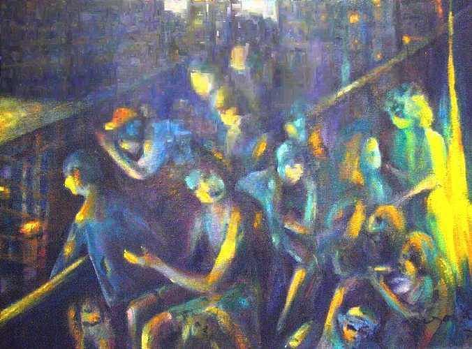 Vagrants - Clochards Painting by Lozano Mary