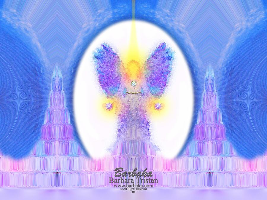 444 Digital Art - 444 Angel Crystals by Barbara Tristan