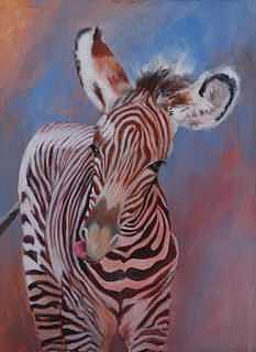 Baby Zebra Print - Baby Zebra by Diana Madaras