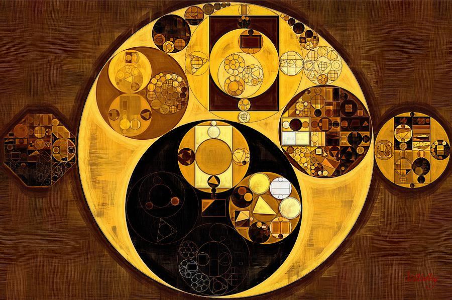 Circle Digital Art - Abstract Painting - Zinnwaldite Brown by Vitaliy Gladkiy