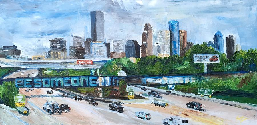 Houston Painting - 45 South, Houston, Texas by Lauren Luna