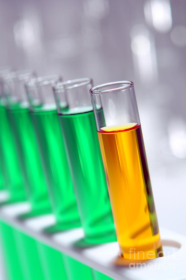 Chemistry Photograph - Test Tubes In Science Research Lab by Olivier Le Queinec