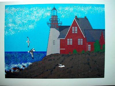 Lighthouse Print by Phil Cashdollar