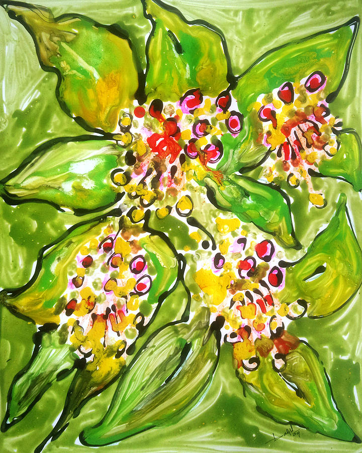 Divine Flowers Painting by Baljit Chadha