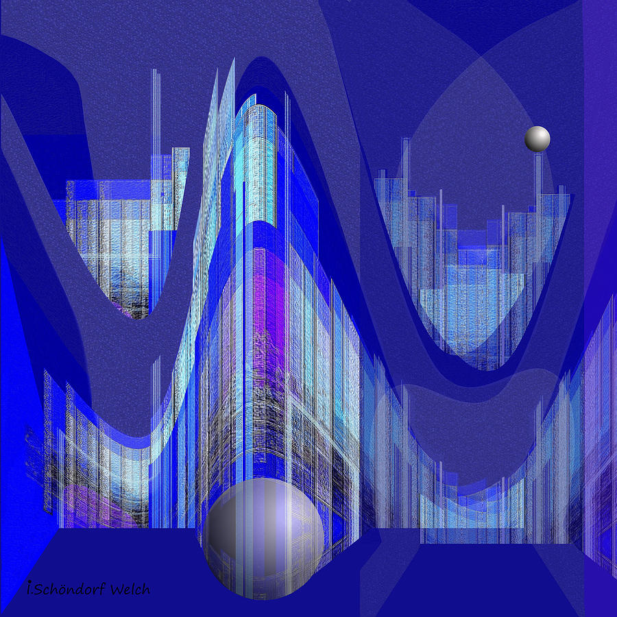 Abstract Painting - 460 - City Of Future 1 ...  by Irmgard Schoendorf Welch