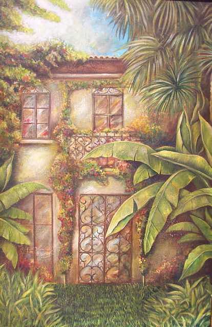 Tropical House Painting by Ekapon Poungpava