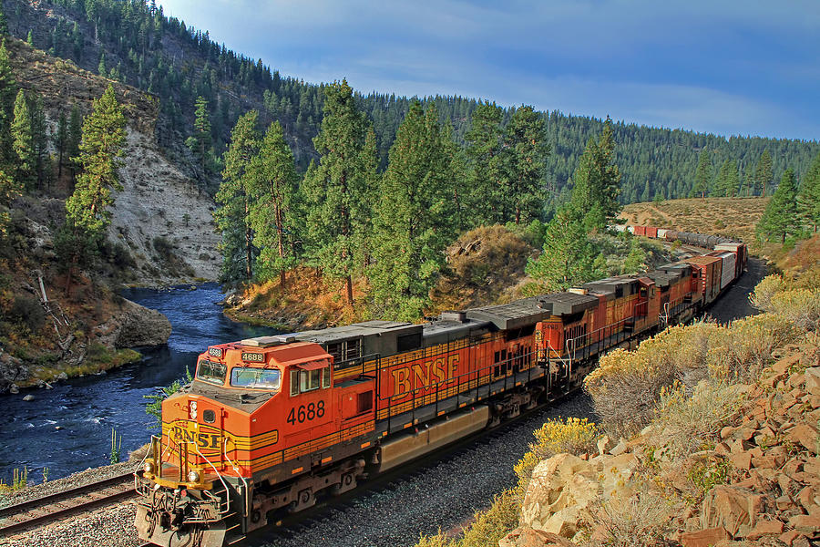 Bnsf Photograph - 4688 by Donna Kennedy