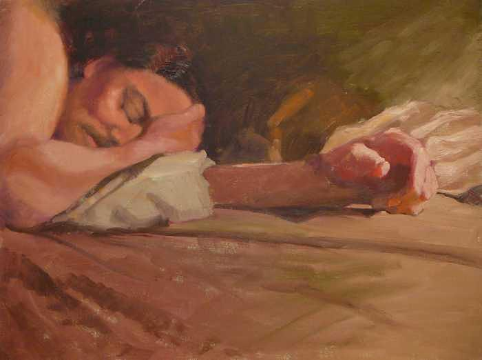 Sleeping Man Painting by Irena  Jablonski