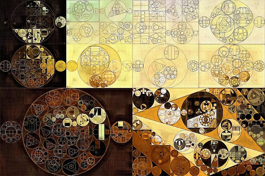 Creation Digital Art - Abstract Painting - Zinnwaldite Brown by Vitaliy Gladkiy