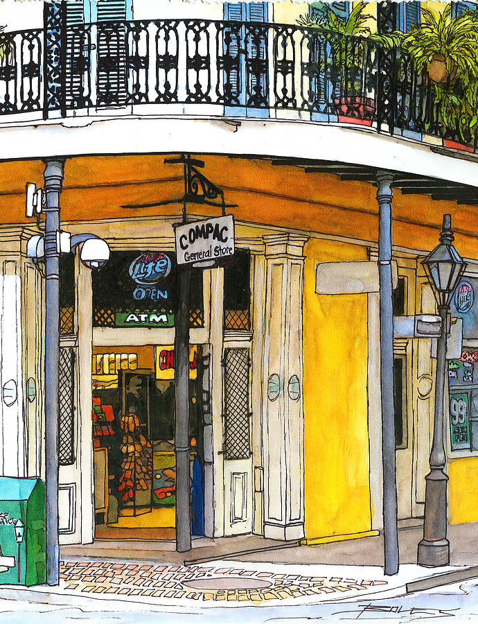 47 french quarter corner store painting by john boles for Craft store new orleans